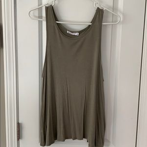Open-Back Army Green Tank